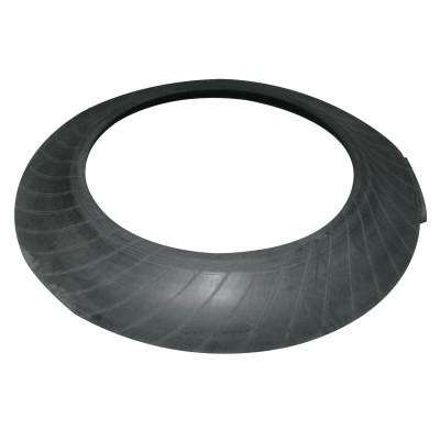 VIZCON Tire Sidewall Drum Base Only, 35 1/2 in Diameter, 25 lb, Rubber, Black