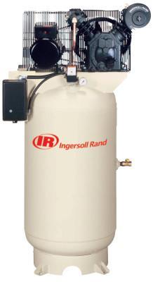 INGERSOLL RAND 60 GAL VERTICAL 5HP 230V1 PHASE AIR COMPRESSOR