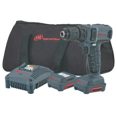 INGERSOLL RAND IQV12 Series Drill/Driver Kits, 3/8 in Chuck, 205 in lb Torque