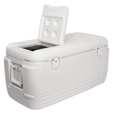 IGLOO Quick and Cool 100 Coolers, 100 qt, White