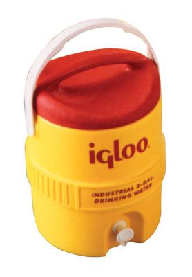 IGLOO 400 Series Coolers, 2 gal, Red; Yellow