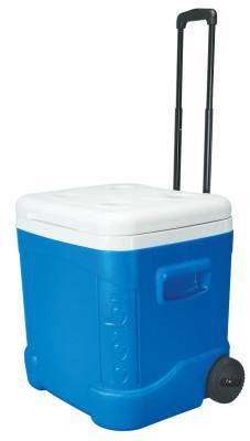 IGLOO Ice Cube™ Roller Cooler, 60 qt, Blue