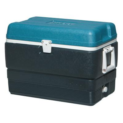 IGLOO MaxCold® Extended Performance Coolers, 50 qt, Jet Carbon/Ice Blue/White