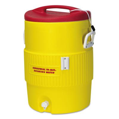 IGLOO 400 Series Coolers, 10 gal, Red, Yellow