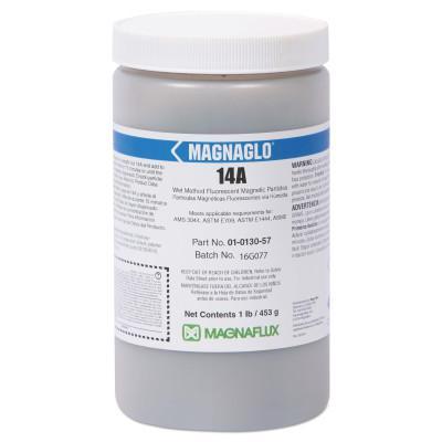 MAGNAFLUX Magnaglo 14A Wet Method Fluorescent Magnetic Particles, 1 lb, Brown