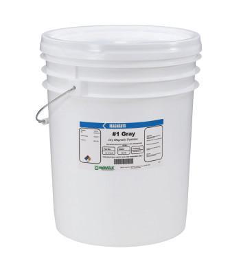 MAGNAFLUX Magnavis Dry Method Non-Fluorescent Magnetic Powders, 45 lb, Pail, Gray