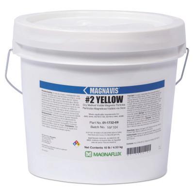 MAGNAFLUX Magnavis Dry Method Non-Fluorescent Magnetic Powders, 45 lb, Pail, Yellow