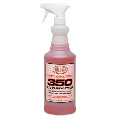 WELD-AID Weld-Kleen 350 Anti-Spatter, 1 Qt Spray Bottle, Red