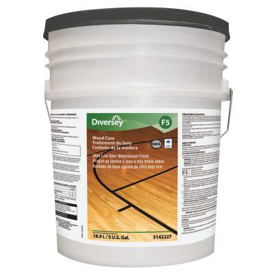 DIVERSEY Ultra Low Odor Waterbased Floor Finish, Liquid, 5 gal. Pail
