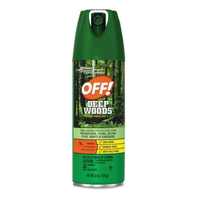 DIVERSEY Deep Woods Dry Insect Repellent, 4oz, Aerosol, Neutral