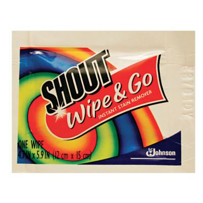 SHOUT Wipe & Go Instant Stain Remover, 4.7 x 5.9