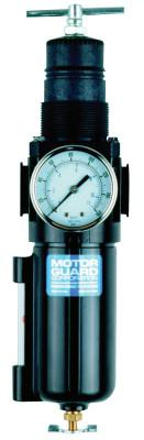 "MOTORGUARD Compressed Air Filters, 1/2""(NPT), Low Profile Air Control Unit Regulator/Filter"