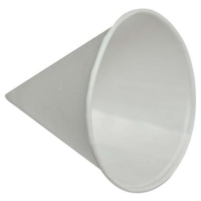 KONIE CUPS Paper Cone Cups, 4 oz, White