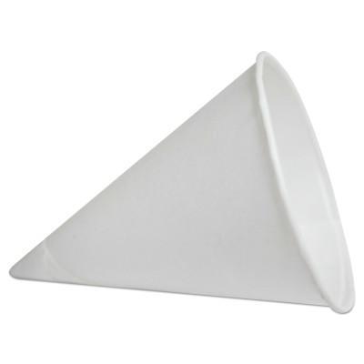 KONIE CUPS Paper Cone Cups, 6 oz, White