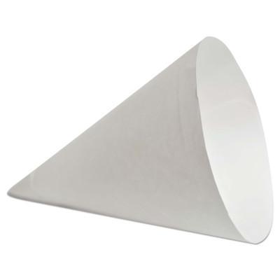 KONIE CUPS Paper Cone Cups, 7 oz, White