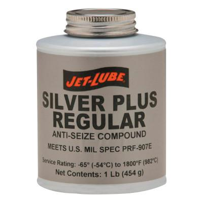 JET-LUBE Silver Plus Regular Anti-Seize Compound, 1 lb Brush Top Can