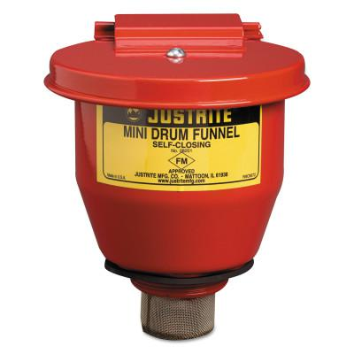 JUSTRITE Small Funnel with Self-Closing Cover