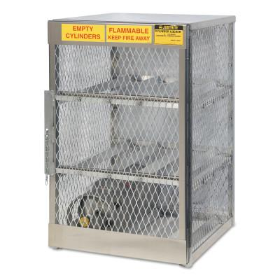 JUSTRITE Aluminum Cylinder Lockers, (6) 20 or 33 lb. Cylinders