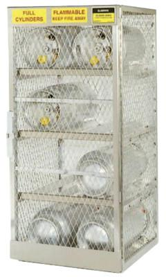 JUSTRITE Aluminum Cylinder Lockers, (12) 20 or 30 lb. Cylinders