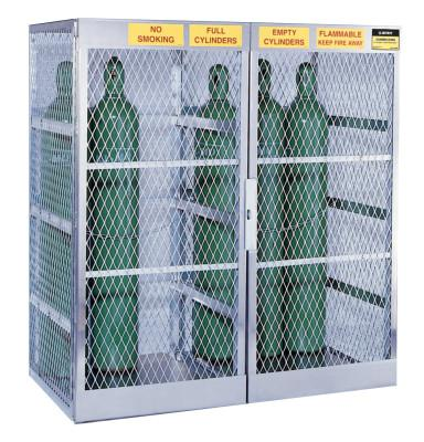 JUSTRITE Aluminum Cylinder Lockers, Up to 20 Gas Cylinders