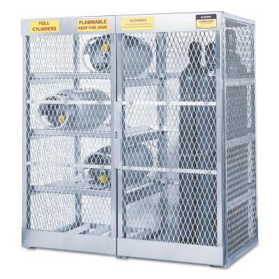 JUSTRITE Aluminum Cylinder Lockers, Up to 8 Horizontal; and 10 Vertical Cylinders