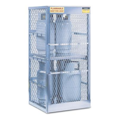 JUSTRITE Aluminum Cylinder Lockers, (8) 20 or 33 lb. Cylinders