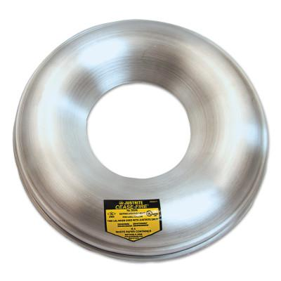 JUSTRITE Cease-Fire Parts - Heads Only, Cover w/Hole, For 4 1/2 & 6 gal. Drums, 12 1/8 in