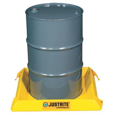 JUSTRITE Maintenance Spill Containment Berms, Yellow, 10 gal, 2 ft x 2 ft