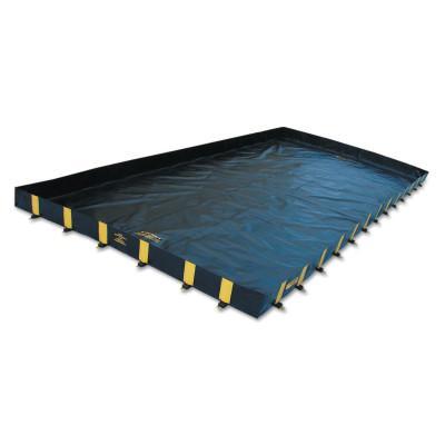 JUSTRITE Rigid-Lock QuickBerm Spill Containment Berms, Black, 2510 gal, 28 ft x 12 ft