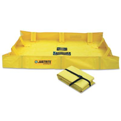 JUSTRITE QuickBerm Lite Spill Containment Berms, Yellow, 79 gal, 48 in x 48 in