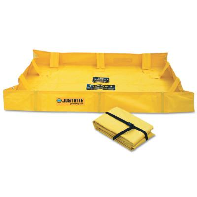 JUSTRITE QuickBerm Lite Spill Containment Berms, Yellow, 119 gal, 6 ft x 4 ft