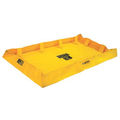 JUSTRITE QuickBerm Lite Spill Containment Berms, Yellow, 159 gal, 8 ft x 4 ft