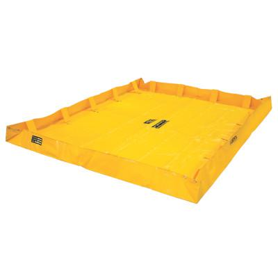 JUSTRITE QuickBerm Lite Spill Containment Berms, Yellow, 318 gal, 96 in x 96 in