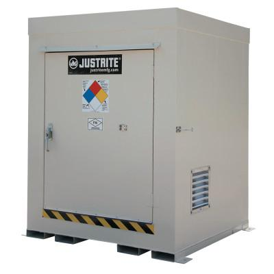 JUSTRITE Non-Combustible Outdoor Safety Locker-Natural Draft Ventilation, (4) 55gal drums