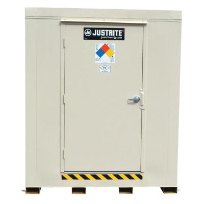 JUSTRITE 2-Hour Fire-Rated Outdoor Safety Locker, Standard, (16) 55-gallon drums