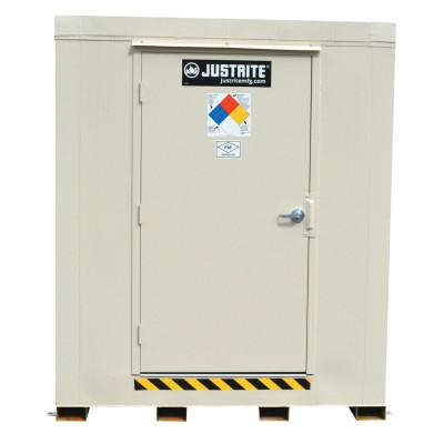 JUSTRITE 4-Hour Fire-Rated Outdoor Safety Locker, Standard, (2) 55-gallon drums