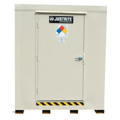 JUSTRITE 4-Hour Fire-Rated Outdoor Safety Locker, Explosion Relief, (6) 55-gallon drums