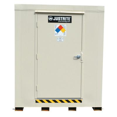 JUSTRITE 4-Hour Fire-Rated Outdoor Safety Locker, Standard, (9) 55-gallon drums