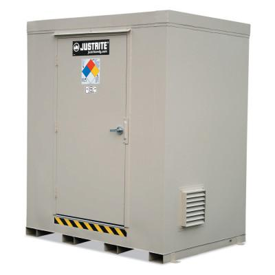 JUSTRITE 4-Hour Fire-Rated Outdoor Safety Locker, Standard, (12) 55-gallon drums