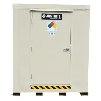 JUSTRITE 4-Hour Fire-Rated Outdoor Safety Locker, Standard, (16) 55-gallon drums