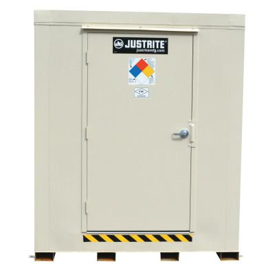 JUSTRITE 4-Hour Fire-Rated Outdoor Safety Locker, Explosion Relief, (16) 55-gallon drums