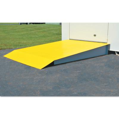JUSTRITE Steel Loading Ramp, 48 in X 88 in X 8 in, For 4 through 16 drum locker