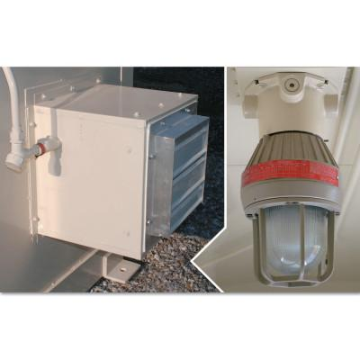 JUSTRITE Explosion Proof Interior Light and Fan for Safety Locker