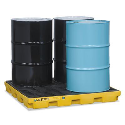 JUSTRITE EcoPolyBlend Accumulation Centers, 4 Drum Unit, Yellow