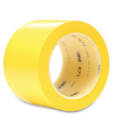 3M™ ABRASIVE Vinyl Tape 471, Yellow, 4.35 in x 2 in