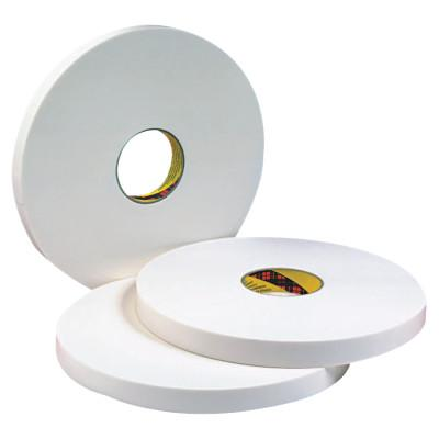 3M INDUSTRIAL Double Coated Urethane Foam Tapes 4016, 1 in x 36 yd, 1/16 in, Natural