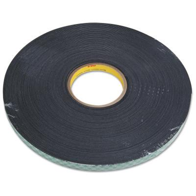 3M™ ABRASIVE Double Coated Urethane Foam Tapes 4056, 3/4 in X 36 yd, 62 mil, Black