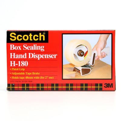 3M™ ABRASIVE Scotch H180 Box Sealing Tape Dispensers, Metal/Plastic