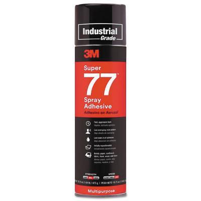 3M INDUSTRIAL Super 77™ Mult-Purpose Spray Adhesive, 16.75 oz Aerosol Can, Clear