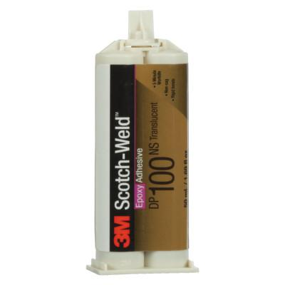 3M INDUSTRIAL Scotch-Weld Two-Part Epoxy Adhesives, DP100, 1.7 oz, Dou-Pak, Clear
